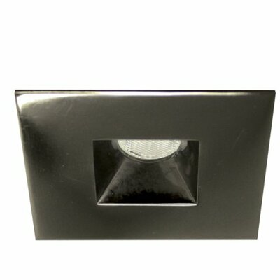 Miniature Downlight Open Reflector Square 1.25 LED Recessed Trim Finish: Gun Metal, Bulb: 3000K