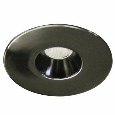 Miniature Downlight Open Reflector Round 1.25 LED Recessed Trim Finish: Gun Metal, Bulb: 3000K