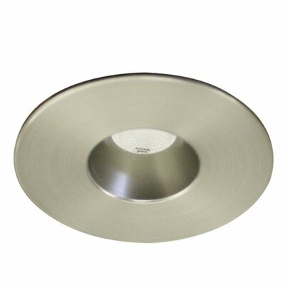 Miniature Downlight Open Reflector Round 1.25 LED Recessed Trim Finish: Brushed Nickel, Bulb: 4500K
