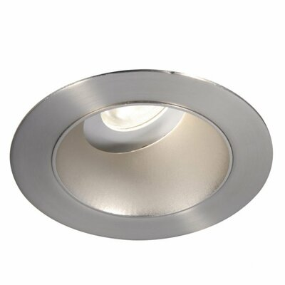 Downlight Adjustable Open Round 3 LED Recessed Trim Finish: Brushed Nickel, Bulb: 4000K