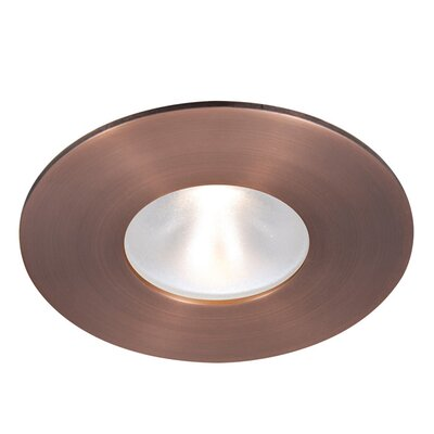 Tesla Recessed Downlight Finish: Copper Bronze, Bulb Color: Warm White, Beam Angle: 53 Degree