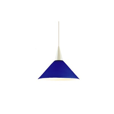 1-Light Liza Line Voltage Mini Track Pendant Shade Color: White Marble, Finish: Black, Track Type: Lightolier Series LTK-F4-402WM/BK