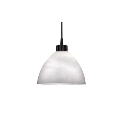 Yohji 5.5 Glass Bowl Pendant Shade Finish: Black, Shade Color: Clear