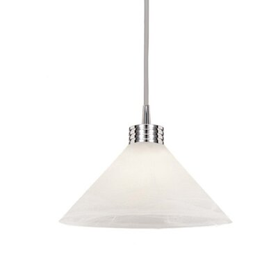 Flexrail2 1-Light Lisa Line Voltage Track Pendant Shade Color: White Marble, Finish: Platinum