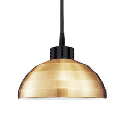 Industrial Felis 1-Light Pendant Finish: Brushed Nickel, Shade Color: Copper