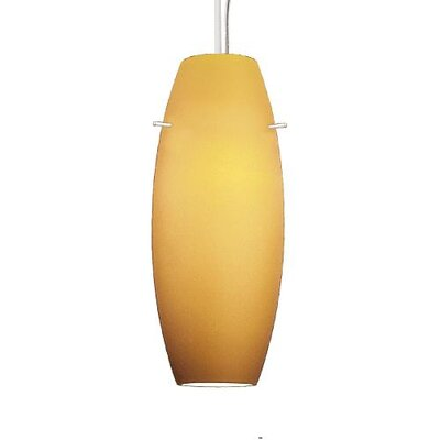 Contemporary Bongo 1-Light Pendant Finish: Black, Shade Color: Amber