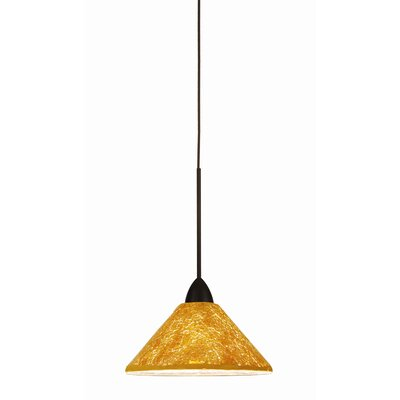 Artisan Micha 1-Light Line Voltage Track Pendant Shade Color: Gold, Finish: Dark Bronze, Track Type: Flexrail2 Two-Circuit
