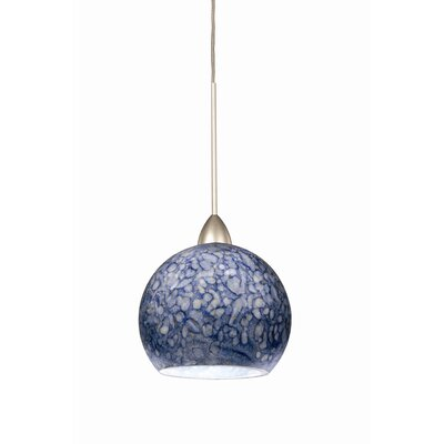 Americana 1-Light Rhea Line Voltage Track Pendant Finish: Platinum, Shade Color: Blue, Track Type: Flexrail2 Two-Circuit