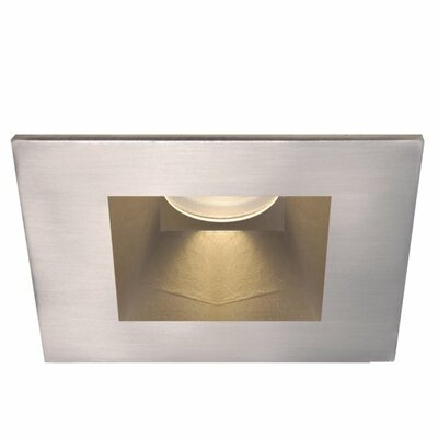 Tesla Square 3 LED Recessed Trim Finish: Brushed Nickel