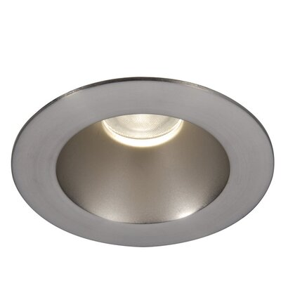 Tesla 3500K Round 3.5 LED Recessed Trim Finish: Semi-Specular Clear/Brushed Nickel