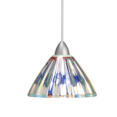 European Eden 1-Light Mini Pendant Canopy Type: Monopoint Canopy, Finish: Brushed Nickel