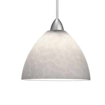 Yohji Quick Connect Pendant Canopy Type: LED Monopoint Canopy, Shade Finish: White, Finish: Brushed Nickel