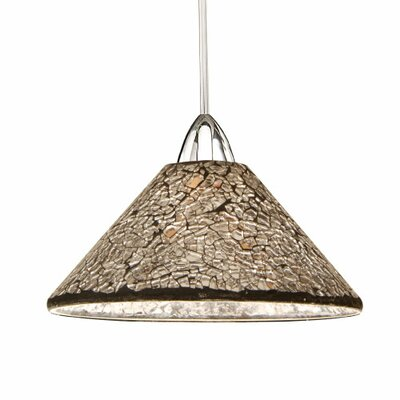 Artisan Micha 1-Light Mini Pendant Canopy Type: Monopoint Canopy, Shade Finish: Gold, Finish: Chrome