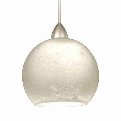 Artisan 1-Light Rhea Quick Connect Track Pendant Shade Color: White, Finish: Chrome