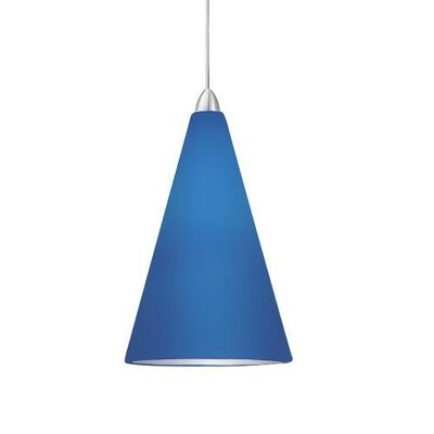 Contemporary April Quick Connect Pendant Shade Finish: Blue, Finish: Chrome