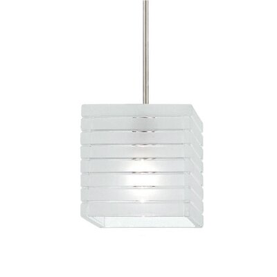 European Tulum Monopoint 1-Light Mini Pendant Finish: Brushed Nickel