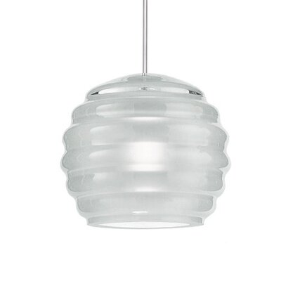 Selen Clarity Monopoint Pendant Shade Finish: Frosted Molded, Finish: Chrome