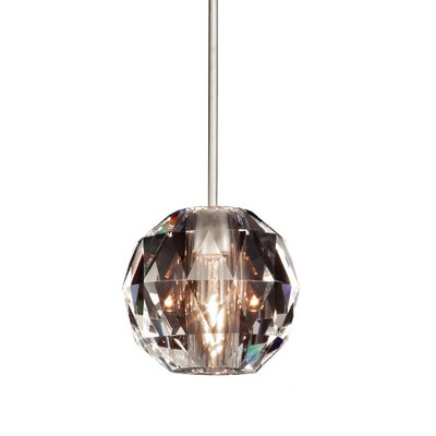 Crystal Polaris Monopoint 1-Light Mini Pendant Finish: Brushed Nickel