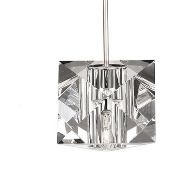 Crystal Prisma Monopoint 1-Light Mini Pendant Finish: Brushed Nickel