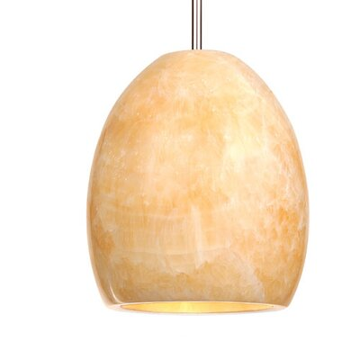 Artisan Alpa Monopoint 1-Light Mini Pendant Shade Finish: Alabaster, Finish: Dark Bronze
