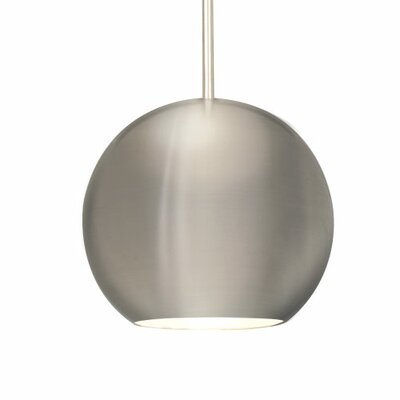 1-Light Globe Pendant Shade Color: Brushed Nickel, Finish: Chrome