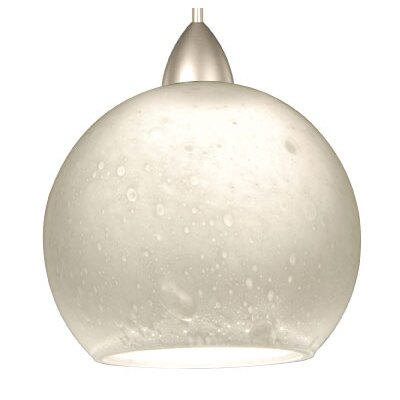Artisan Micha Quick Connect Pendant Canopy Type: LED Monopoint Canopy, Shade Color: White, Finish: Dark Bronze