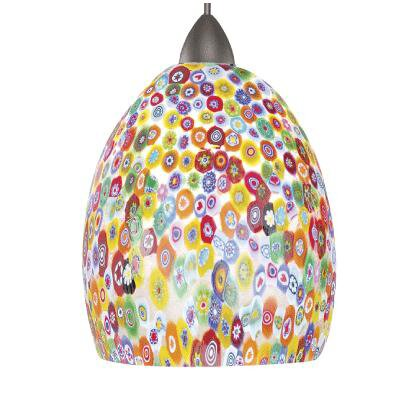 European Fiore LEDme 1-Light Mini Pendant Shade Finish: Millefoire, Finish: Chrome