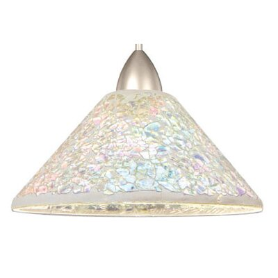 Artisan Micha LEDme 1-Light Mini Pendant Shade Finish: Multicolored, Finish: Brushed Nickel