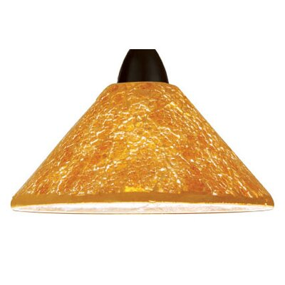 Artisan Micha LEDme 1-Light Mini Pendant Shade Finish: Gold, Finish: Dark Bronze