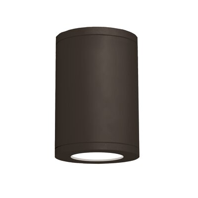 Tube Architectural 1-Light Flush Mount Finish: Bronze, Size: 11.81 H x 8 W, Color Temperature: 2700K