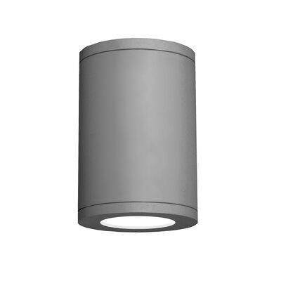 Tube Architectural 1-Light Flush mount Finish: Graphite, Size: 9.53 H x 6 W, Lens Degree: Flood