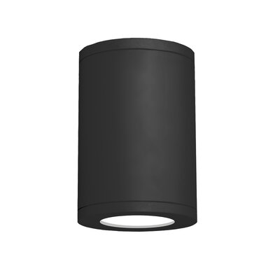 Tube Architectural 1-Light Flush mount Finish: Black, Size: 11.81 H x 8 W, Lens Degree: Flood