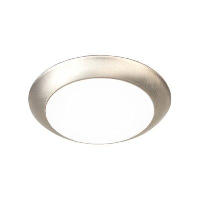 Disc 1 LED Ceiling/Wall Recessed Retrofit Flush Mount Finish: Brushed Nickel