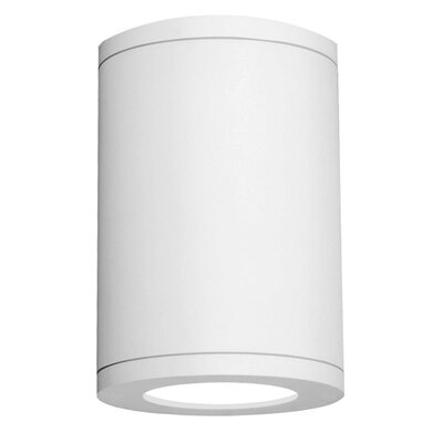 Tube Architectural 1-Light Flush mount Finish: White, Size: 9.5 H x 6.38 W x 6.38 D, Lens Degree: Flood