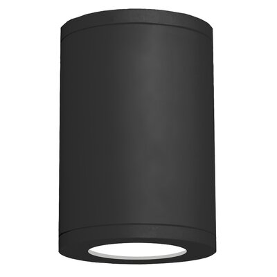 Tube Architectural 1-Light Flush mount Finish: Black, Size: 11.75 H x 7.88 W x 7.88 D, Lens Degree: Flood