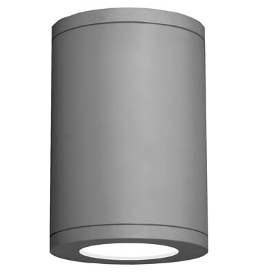 Tube Architectural 1-Light Flush mount Finish: Graphite, Size: 9.5 H x 6.38 W x 6.38 D, Lens Degree: Flood