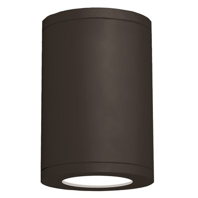 Tube Architectural 1-Light Flush mount Finish: Bronze, Size: 11.75 H x 7.88 W x 7.88 D, Lens Degree: Flood