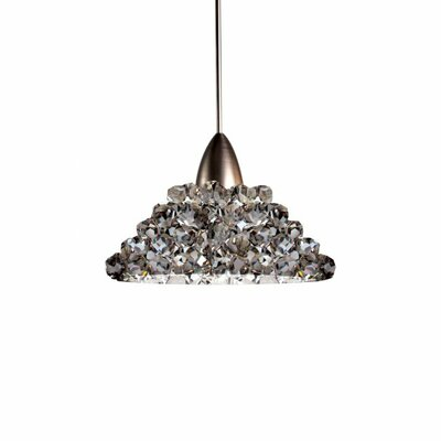 Giselle Bi-Pin Pendant Finish: Brushed Nickel, Shade Color: Black Ice, Bulb Type: LED
