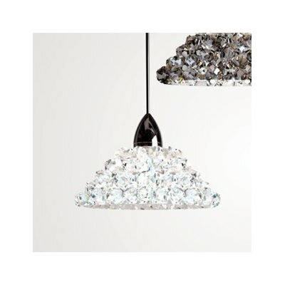 Giselle Bi-Pin Pendant Finish: Dark Bronze, Shade Color: White Diamond (Clear), Bulb Type: LED