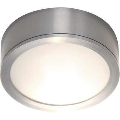 Tube Flush Mount Finish: Brushed Aluminum