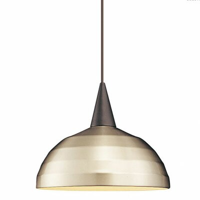 Cathedrals Felis 1-Light Pendant Finish: White, Shade Color: Brushed Nickel