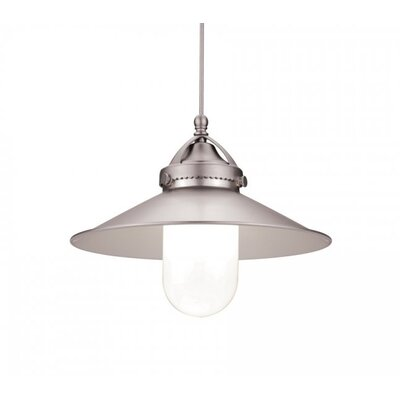 9.5 Glass Empire Pendant Shade Shade Color: Brushed Nickel