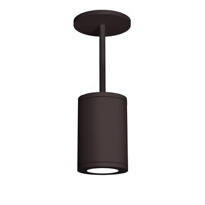 Tube 1-Light Mini Pendant Finish: Bronze, Size: 9.53 H x 6 W, Lens Degree: Spot
