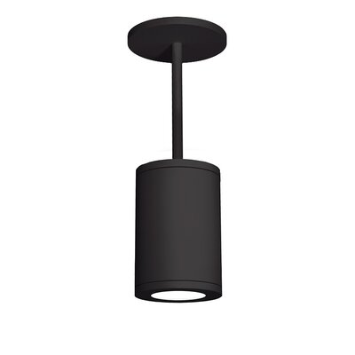 Tube 1-Light Mini Pendant Finish: Black, Size: 9.53 H x 6 W, Lens Degree: Flood