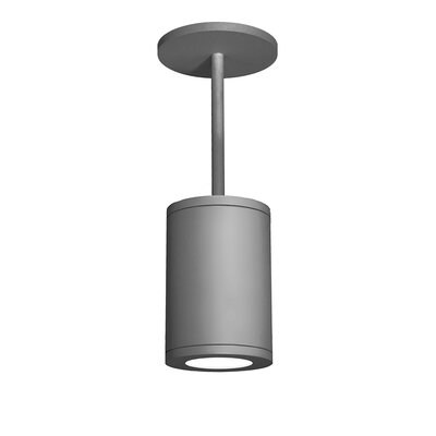 Tube 1-Light Mini Pendant Finish: Graphite, Size: 9.53 H x 6 W, Lens Degree: Spot