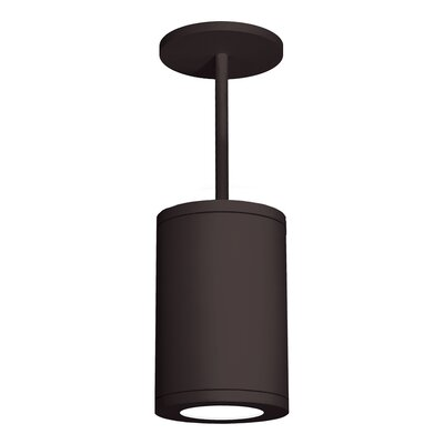 Tube 1-Light Mini Pendant Finish: Bronze, Size: 33.27 H x 8 W x 11.81 W, Lens Degree: Flood