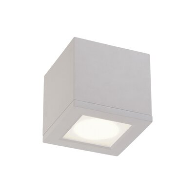 Rubix Flush Mount Size: Small, Finish: White