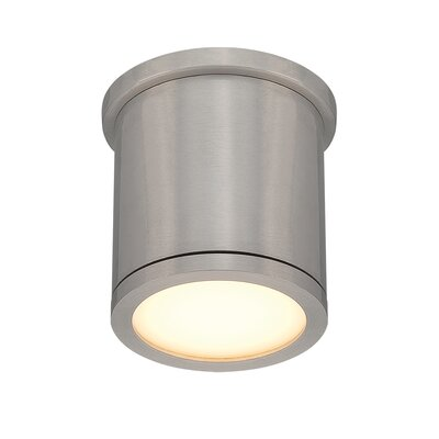 Tube 1-Light Flush Mount Finish: Brushed Aluminum