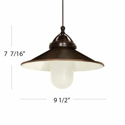 9.5 Glass Empire Pendant Shade Shade Color: Antique Bronze