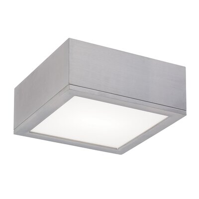 Myrtle Flush Mount Finish: Brushed Aluminum, Size: Large